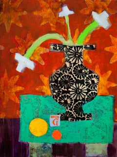 "Denise Regan ""Still Life Yellow Ball"" Oil Painting on Canvas"