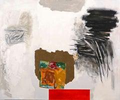 "Rocio Rodriguez ""Broken Image"" Abstract Oil Pastel on Paper"