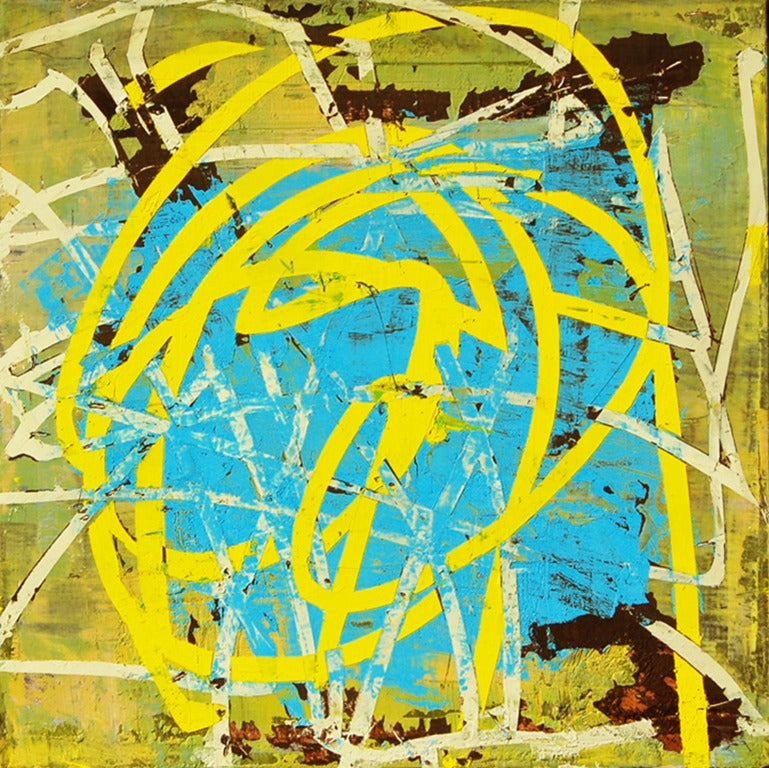 Mary Didoardo Abstract Painting - Yellow Streak