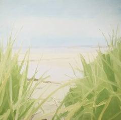 """Sara McCulloch """"Beach Grass Path"""" -- Coastal Beach Landscape Oil Painting"""
