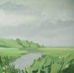"Sara McCulloch ""Marsh"" -- Coastal Landscape Painting on Canvas"