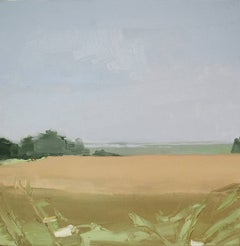 """Sara McCulloch """"Fields and Basin"""" -- Costal Landscape Oil Painting on Canvas"""