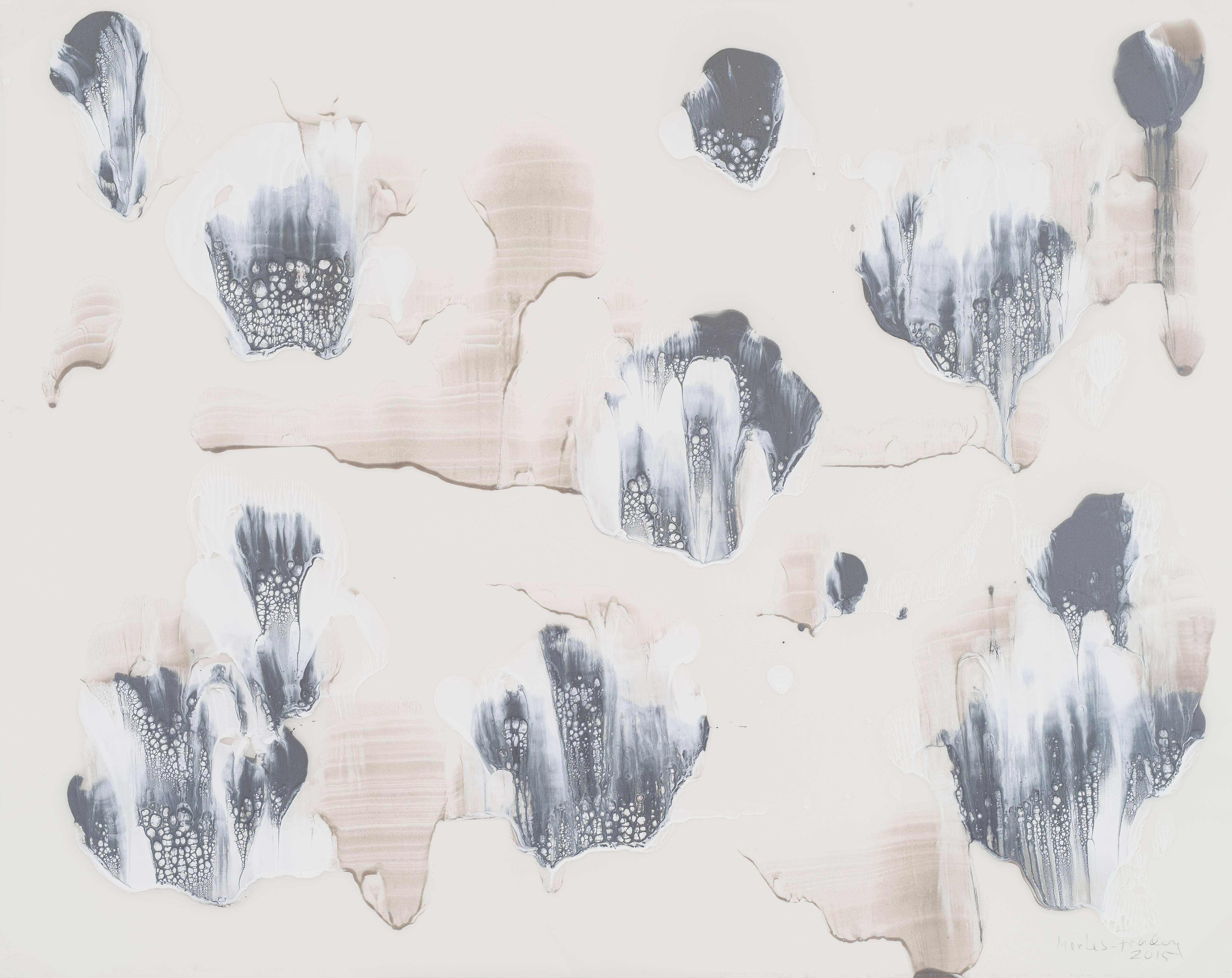 """Gudrun Mertes-Frady """"Ice Flowers"""" Abstract Painting"""