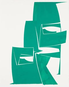 "Joanne Freeman ""Covers 30 Green"" -- Abstract Painting on Paper"
