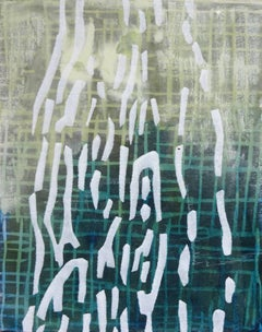 """Laura Fayer """"Small Work #2"""" -- Abstract Painting on Panel"""