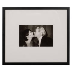 Original Christopher Makos Photograph of Andy Warhol and Liza Minelli