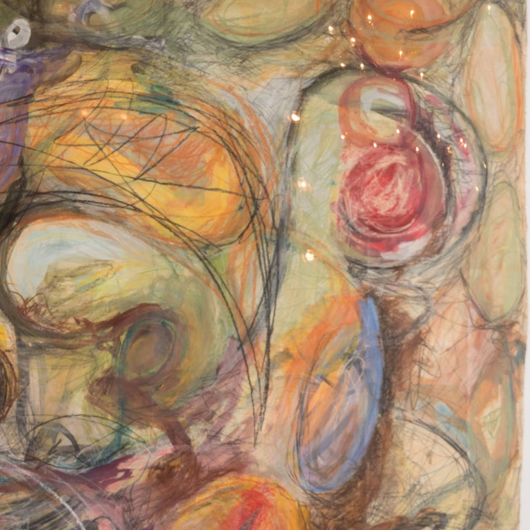 Untitled (Monumental Abstract Expressionist Composition) - Brown Abstract Painting by Unknown