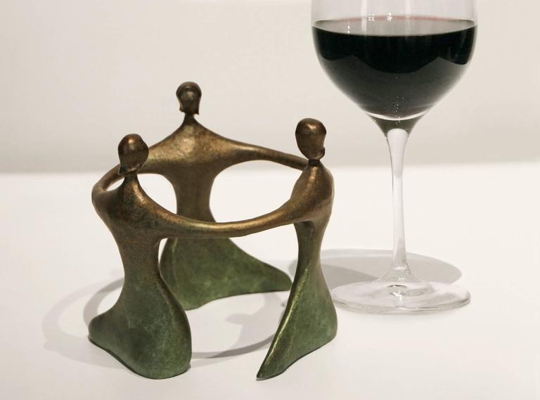 Circlet Miniature - Gold Figurative Sculpture by Robert Holmes