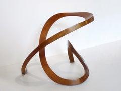 Red Uzumaki - bronze sculpture by Northwest sculptor Gerard Tsutakawa