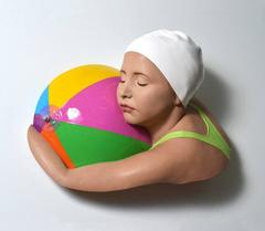 Brooke with Beach Ball