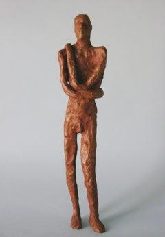 Male Figure Standing -figurative bronze by New York artist Noa Bornstein