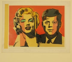 Marilyn Monroe and JFK Original Artwork for Postcards