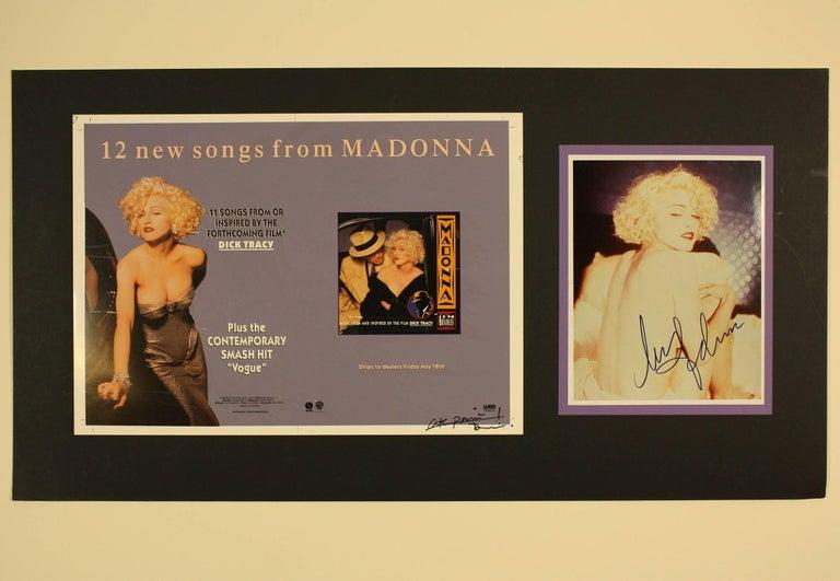 Madonna Original Artwork With Signed Photograph