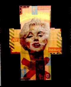 Marilyn Monroe Original Collage Portrait by Andrew Eakins