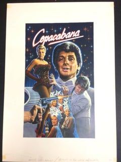 BARRY MANILOW, THE ORIGINAL PAINTING 1985 FOR THE COPACABANA FILM VHS COVER