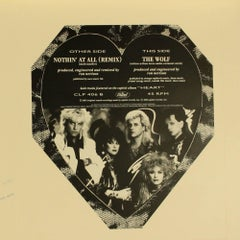 HEART Nothing at All The original Production artwork for  7 ins Picture Disc