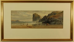 Wrecker on the Beach at Lion Rock by Thomas Hart painted 1864
