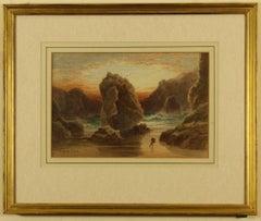 Steeple Rock, Kynance Cove by Thomas Hart F.S.A