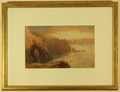 Gamper Arch, The Lands End and Longships Lighthouse by Thomas Hart FSA
