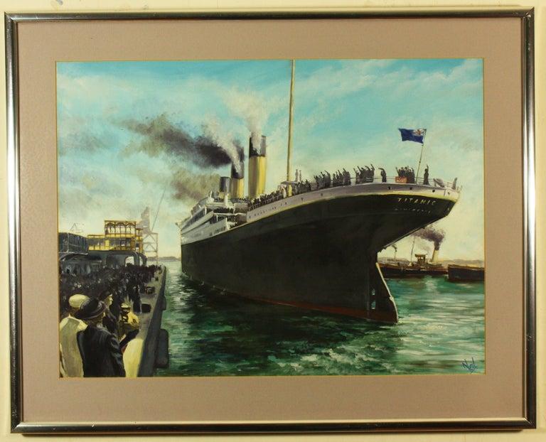 Neil Lenard - Titanic at the White Star Dock Southampton, Painting ...