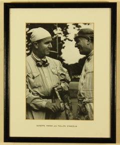 Guiseppe Farina and Phillipe Etancelin 1950 British Grand Prix