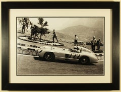 Mercedes Benz 300SLR, No 722, Mille Miglia 1955 signed by Stirling Moss