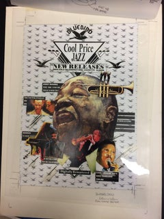 Original Artwork for Bluebird Artists album COOL PRICE JAZZ  promo poster