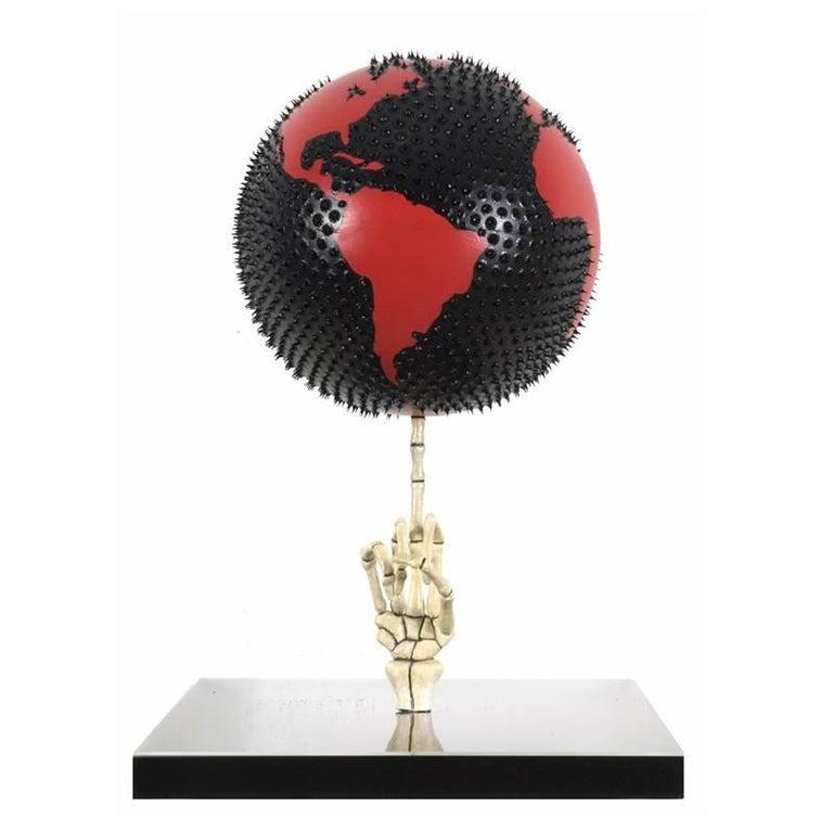 Marco Veronese Abstract Sculpture - Fuck the World