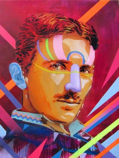Power is the Energy (Portrait of Nikola Tesla) by BTOY + Uriginal