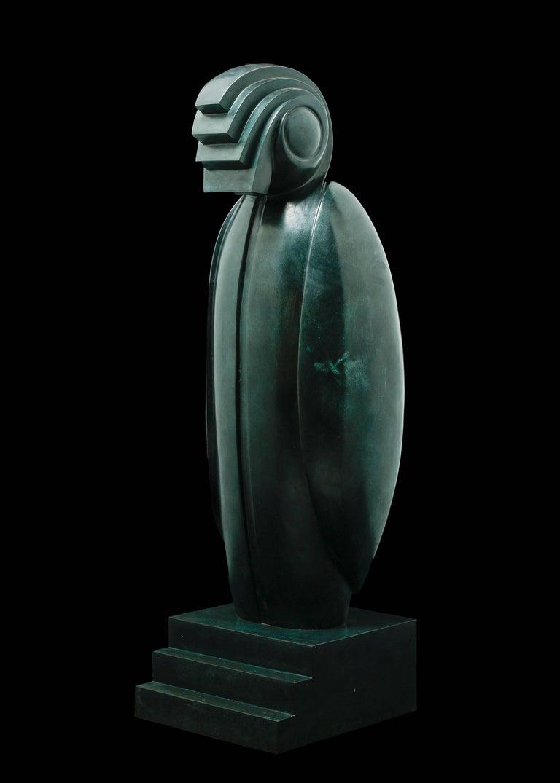 Horus Sculpture by Franco Adami  Italy, XX Century  Original Bronze  Dimensions: H 112 cm  Width 38cm