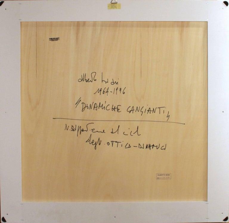 Dinamiche Cangianti - Black Interior Painting by Alberto Biasi