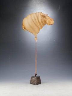 Beige Hippo Balloon