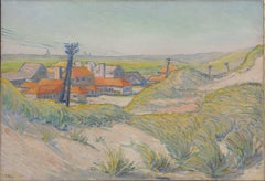 Houses behind the dunes