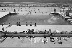 Black and White Contemporary Photographic Art: Sea Point Pool 1979