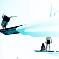 Untitled #20, Cascais, 2002 - Karine Laval, Swimming, Pools, Sunshine, Diving