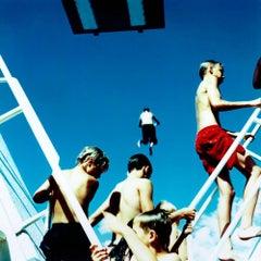 Untitled #27, Oslo, 2002 (Photograph, Print, Sunshine, Swimming, Children, Blue)