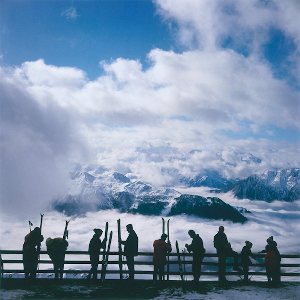 Verbier View - Slim Aarons, 20th Century, Winter sports, Sky view, Winter images