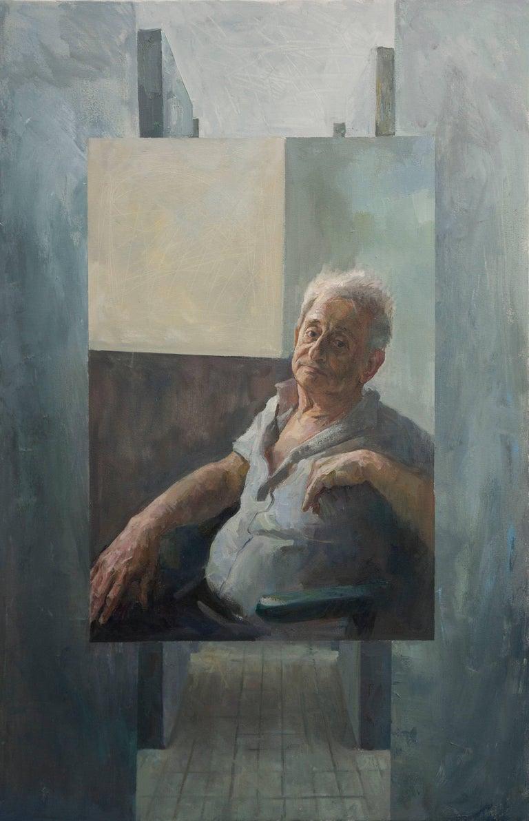 """Iliya Mirochnik, """"War is Simple, Like a Monument,""""  37in x 60in, oil on canvas"""