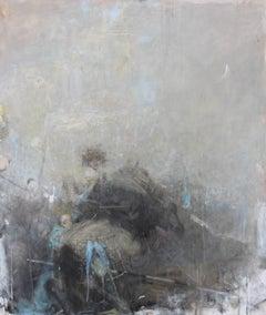 Vachagan Narazyan, Barrier- Grey Girl Rider, 37in x 43in, oil on canvas
