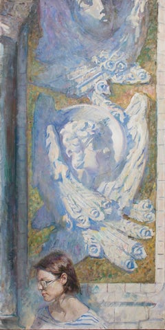 "Iliya Mirochnik, ""Kronstadt Cathedral,""  63.5in x 31in, oil on canvas"