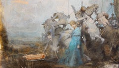 """Vachagan Narazyan, """"Small Victory"""", 7.75in x 13.5in, oil on canvas"""