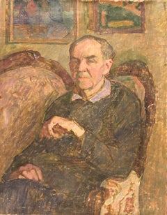 "Vyacheslav Zabelin, ""Portrait of a Man (Father)"", 26.38in X 20in, Oil on linen"