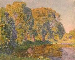 "Vyacheslav Zabelin, ""Evening"", 19.75in x 24in, Oil on canvas"
