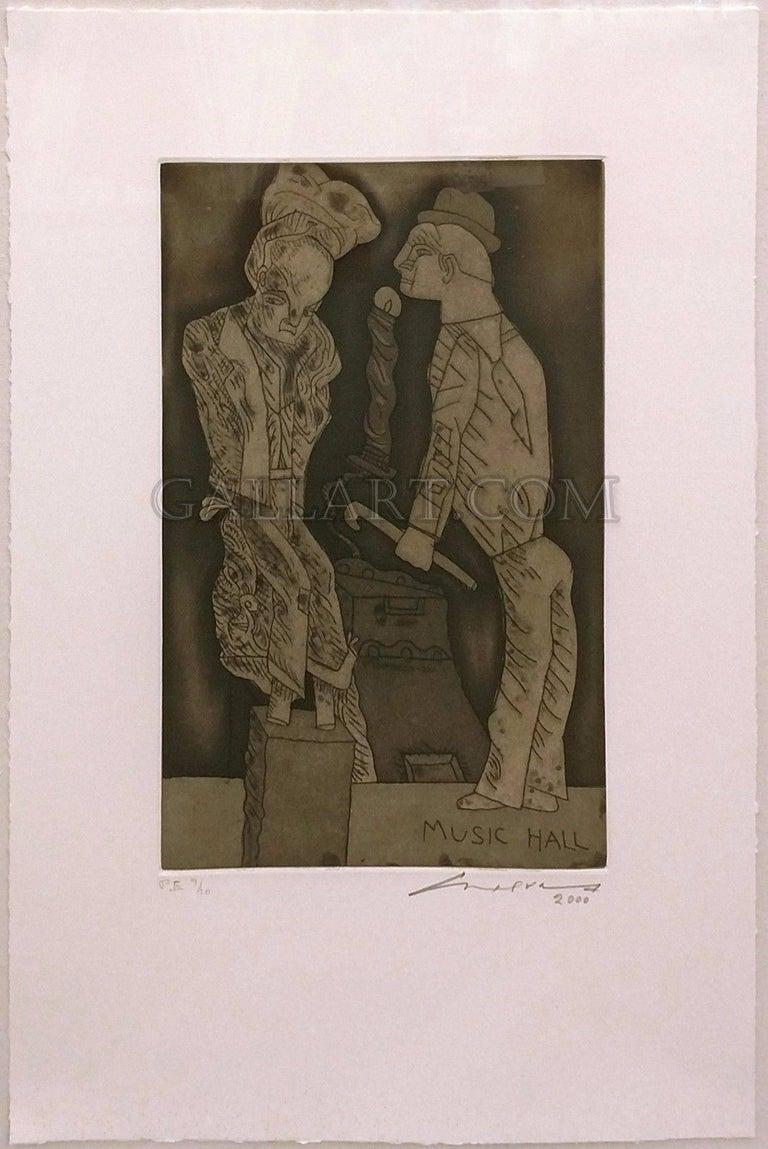 UNKNOWN TITLE (MUSIC HALL) - Print by José Luis Cuevas