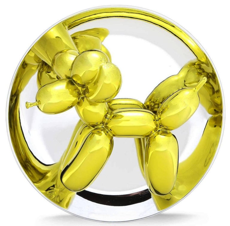 BALLOON DOG (YELLOW) - Sculpture by Jeff Koons