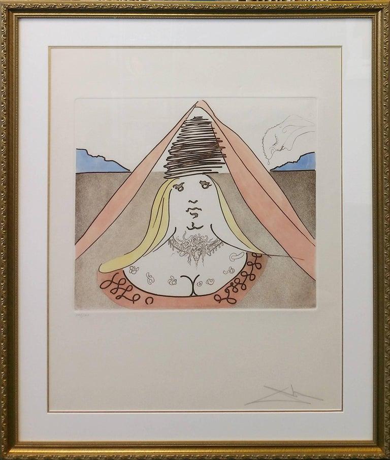 Salvador Dalí Figurative Print - THE LADY DULCINEA