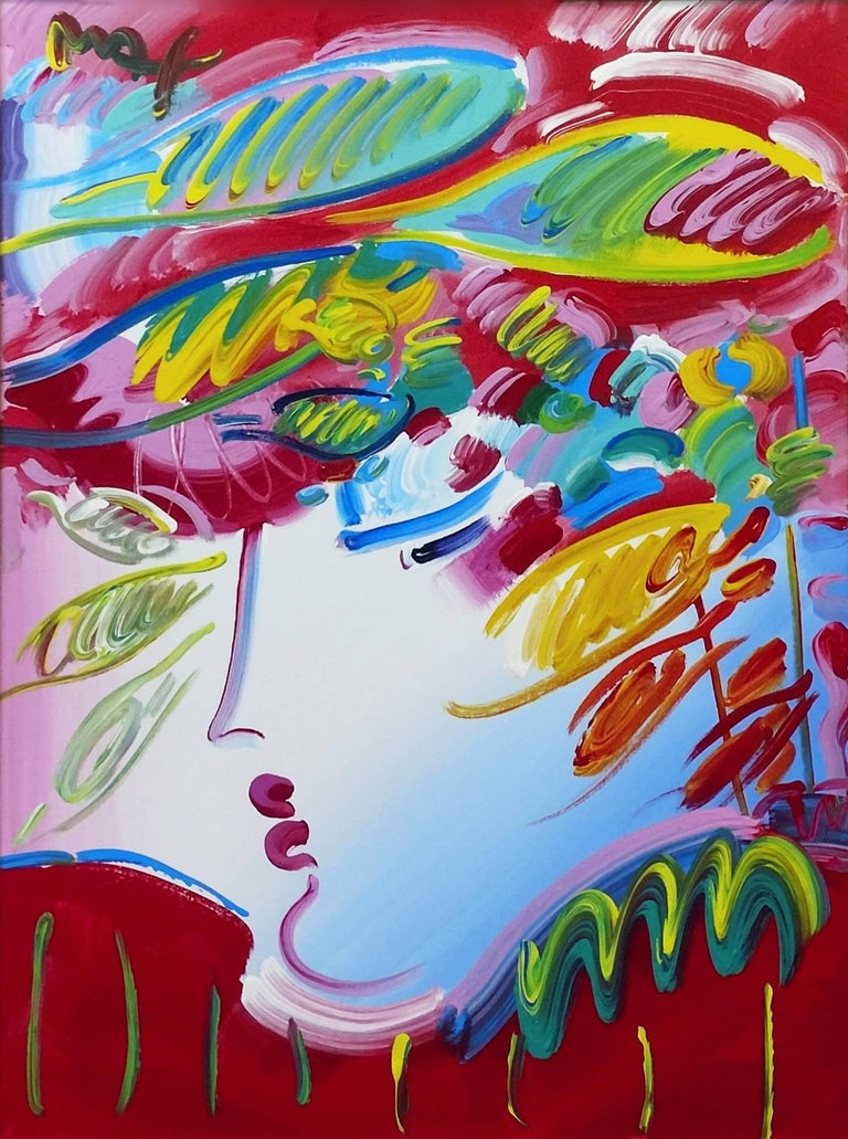 peter max blushing beauty painting for sale at 1stdibs. Black Bedroom Furniture Sets. Home Design Ideas