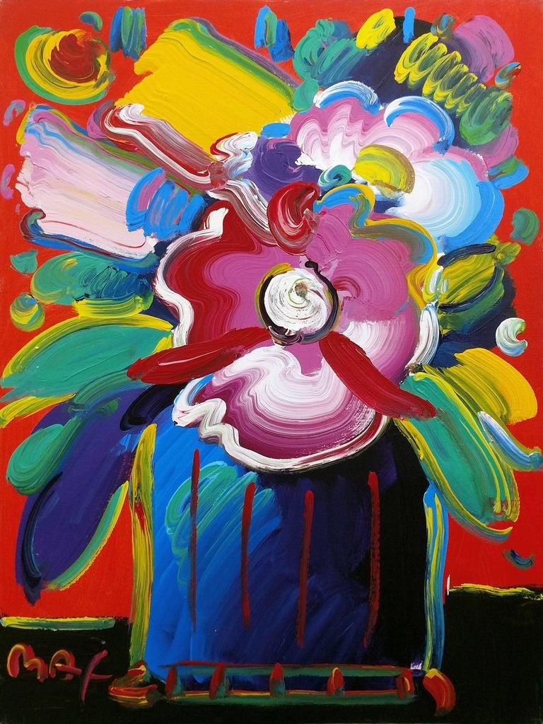 peter max vase of flowers series 88 ver iii 1 painting for sale at 1stdibs. Black Bedroom Furniture Sets. Home Design Ideas