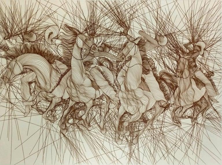 Guillaume Azoulay Figurative Print - EMBUSCADE
