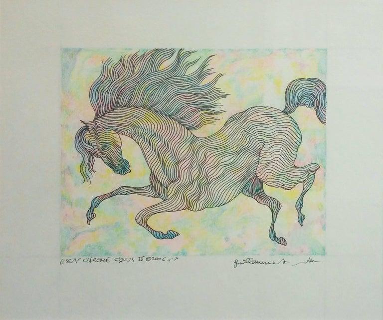 Guillaume Azoulay Figurative Art - ESSAI CHROME EQUUS IV